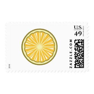 rebanada del limón timbres postales