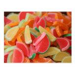 Rebanada del naranja del caramelo postal