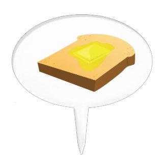 Rebanada del pan palillos de tarta