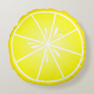 Rebanada fresca del limón cojín redondo