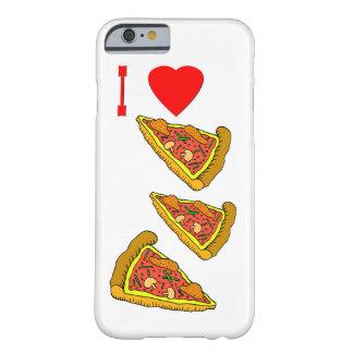 Rebanada italiana de la pizza del vector funda de iPhone 6 barely there