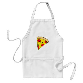 Rebanada linda de la pizza delantales