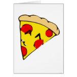 Rebanada linda de la pizza felicitacion