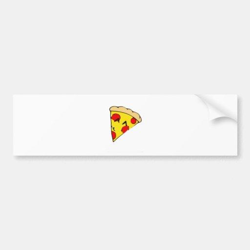 Rebanada linda de la pizza pegatina de parachoque