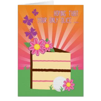 Rebanada linda y de la diversión del cumpleaños tarjeta de felicitación