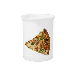 Rebanada picante de la pizza jarras de beber