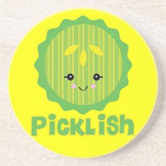rebanada picklish de la salmuera del kawaii posavasos manualidades