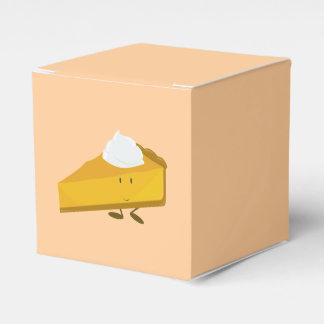 Rebanada sonriente del pastel de calabaza cajas para regalos de fiestas