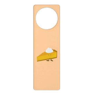 Rebanada sonriente del pastel de calabaza colgador para puerta