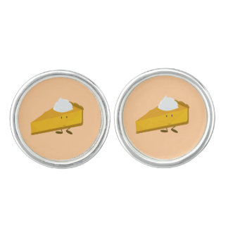 Rebanada sonriente del pastel de calabaza gemelos