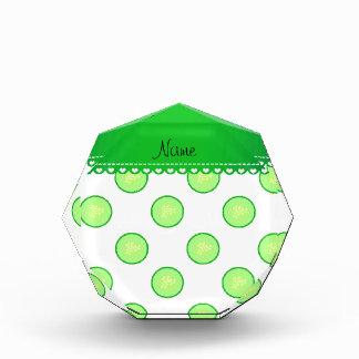 Rebanada verde blanca conocida personalizada del