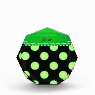 Rebanada verde negra conocida personalizada del