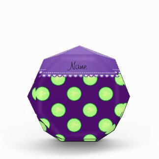 Rebanada verde púrpura conocida personalizada del