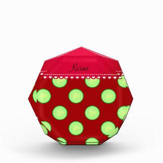 Rebanada verde roja conocida personalizada del