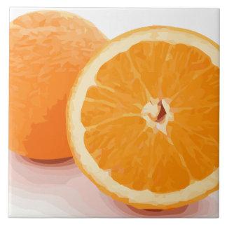 Rebanadas anaranjadas jugosas deliciosas azulejo cuadrado grande
