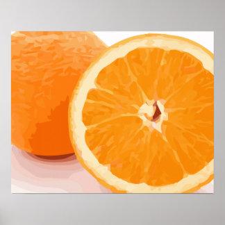 Rebanadas anaranjadas jugosas deliciosas poster