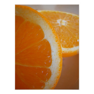 Rebanadas anaranjadas póster
