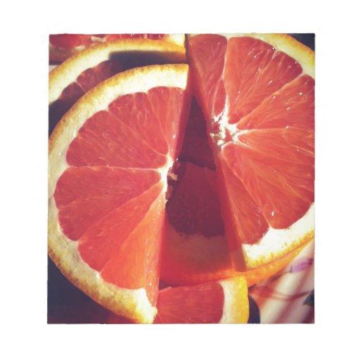 Rebanadas anaranjadas -- ¡Sueño de mandarina! Blocs De Notas
