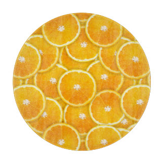Rebanadas anaranjadas tablas de cortar