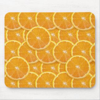 Rebanadas anaranjadas tapetes de raton