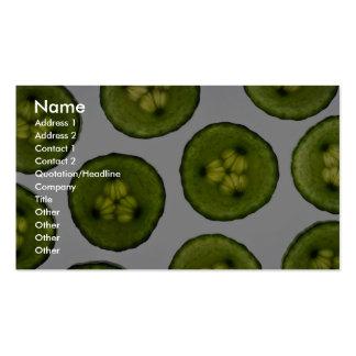 Rebanadas atractivas de pepino tarjetas personales