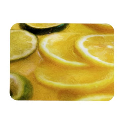 Rebanadas de la cal del limón de la fruta cítrica imán