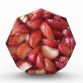 Rebanadas de la fresa, bocado sano de la comida,