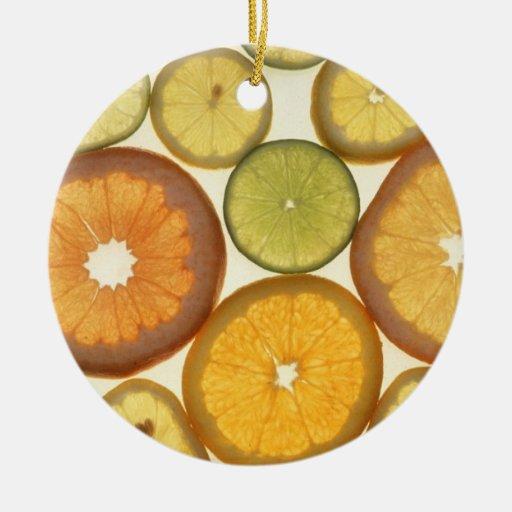 Rebanadas de la fruta cítrica ornamentos de reyes