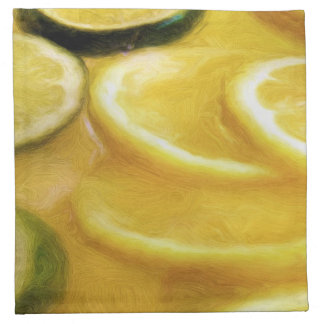 Rebanadas de la fruta cítrica servilleta imprimida