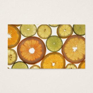 Rebanadas de la fruta cítrica tarjeta de negocios