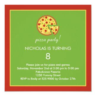 Rebanadas de la pizza - invitación de la fiesta de