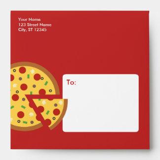 Rebanadas de la pizza - sobres del fiesta de la pi