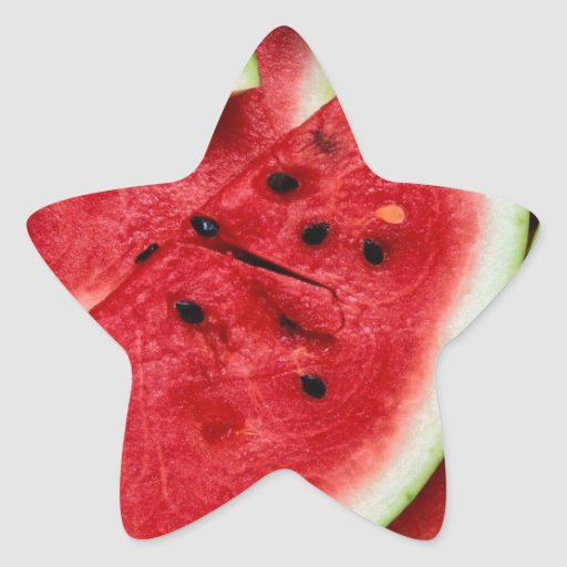 Rebanadas de la sandía pegatina forma de estrella personalizadas