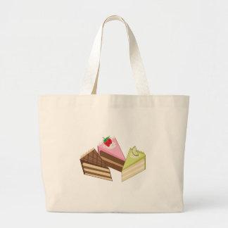 Rebanadas de la torta bolsas de mano