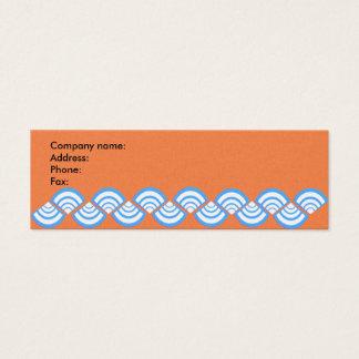 Rebanadas de la turquesa en el naranja tarjeta de visita pequeña