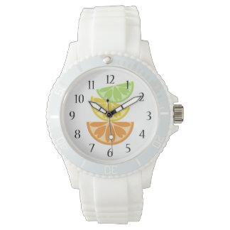Rebanadas de los agrios relojes de pulsera