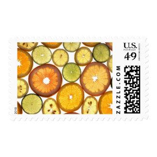 Rebanadas de los agrios sellos postales