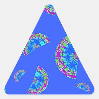 Rebanadas de Shell Pegatina Triangular