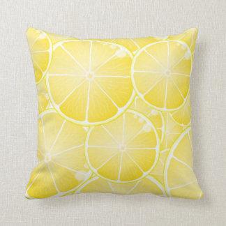 Rebanadas del limón almohadas