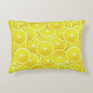 Rebanadas del limón cojín decorativo
