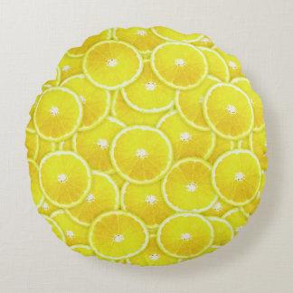 Rebanadas del limón cojín redondo