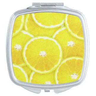 Rebanadas del limón espejos maquillaje