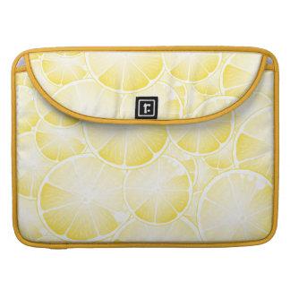 Rebanadas del limón funda para macbooks