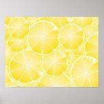Rebanadas del limón impresiones