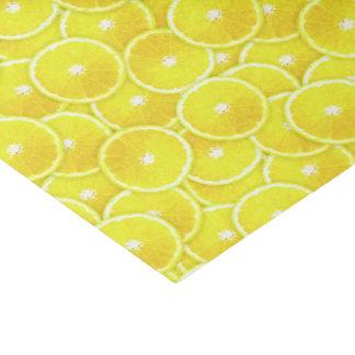 Rebanadas del limón papel de seda