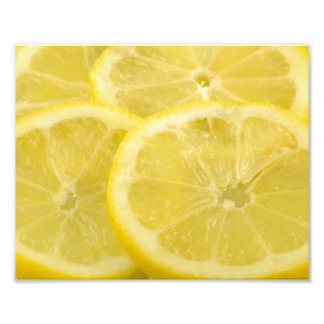 Rebanadas del limón impresión fotográfica