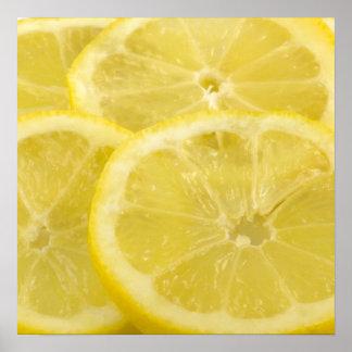 Rebanadas del limón póster