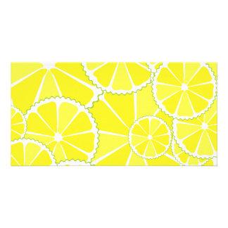 Rebanadas del limón tarjetas fotograficas personalizadas