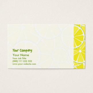 Rebanadas del limón tarjeta de negocios