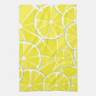 Rebanadas del limón toalla de cocina